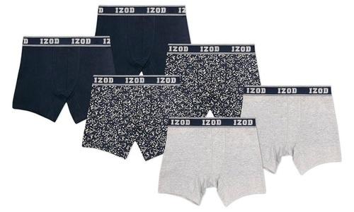 547a66d6c8ccf NEW Izod Men s Cotton Stretch Boxer Briefs 6 Pack - Multi - Size ...