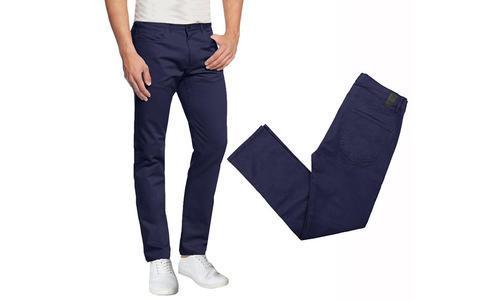 7fdb1b4589a3 Galaxy By Harvic Men's 5-Pocket Skinny Fit Chino Pants - Navy - Size: