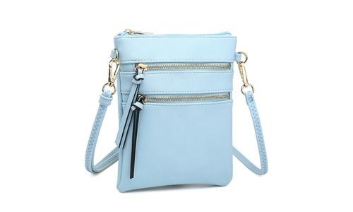 cb6e206d60c096 NEW MK Belted Women's Small Crossbody Handbag - 7051-Light Blue   eBay