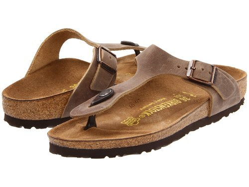Details about NEW Birkenstock Women's Gizeh Oiled Leather Sandals Brown Size: 6