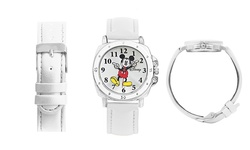 Disney Kid's Mickey Mouse Watch - White Band
