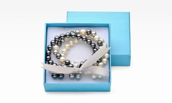 Genuine Pearl Bracelet & Stud Earrings G