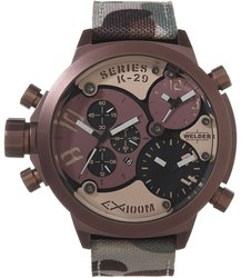 Welder Men's U-Boat Triple Time Zone Chronograph Watch - Brown