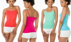 Maze Collection 12-Pack Ladies Seamless Assorted Color Camisoles
