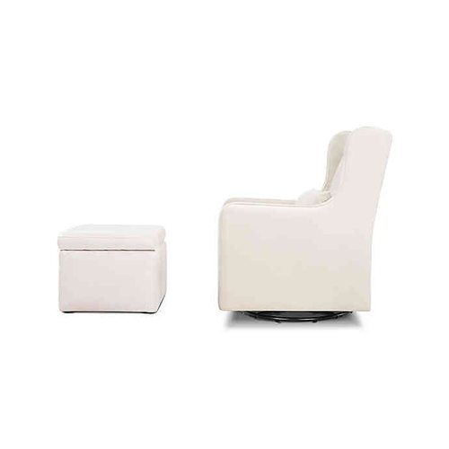 Fantastic Details About Davinci Carters Adrian Swivel Glider With Ottoman Cream Pabps2019 Chair Design Images Pabps2019Com