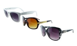 XOXO Womens Sunglasses: Front Row (Black)