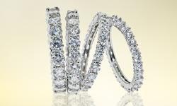 5CT Sterling Silver Eternity Wedding Ban
