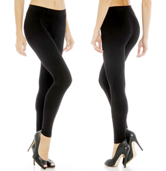 Icon Apparel Women's Black Fleece Lined Leggings - Black - Size: L/XL