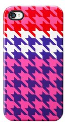 House of Holland Yellow Houndstooth Case for iPhone 4/4S - Pink/white/Red