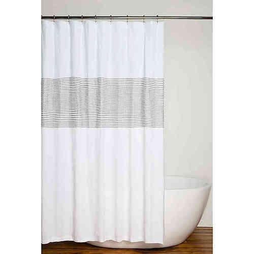 Nora 72 Inch X 96 Inch Shower Curtain Grey White Ebay