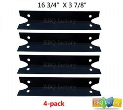 BBQ Gas Grill Heat Plate Shield for Brinkmann Charmglow Grills - 4 Pack