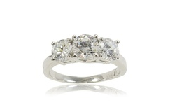 2.0CTTW 3-Stone Diamond Ring in 10K White Gold - Size 7