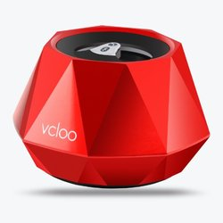 Vcloo Diamond Shaped Bluetooth Speaker, Portable Wireless Mini Bluetooth 3.0, Built-in Microphone for iPhone, iPad, iPod, Android Cell Phones & Tablet PCs(Red)