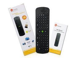 Generic Mini Portable 2.4GHz Wireless Fly Air Mouse Keyboard Remote Control for Mini PC Google Android TV Box - Works with any MK 802 Smart TV black 8.1 x 1.2 x 2.6