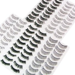 Winstonia's 50 Pairs False Eyelashes Bundle Set w/ Adhesive