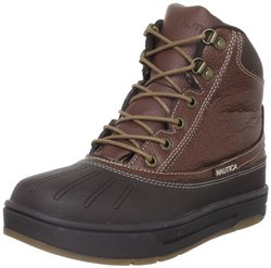 Nautica Boy's New Bedford Leather Winter Boots - Brown
