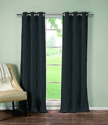 Extra Long Woven Hastings Blackout Grommet Pair Panels
